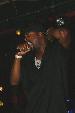 "Mark ""Mob Royalle"" Jones performs Hiphop at the Peace Love And Hiphop Show at Duffy's in Salem, Oregon"