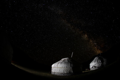 The Milky Way over our gers, Mongolia