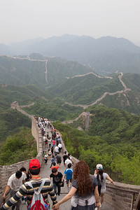 View from the Ba Da Ling segment of the Great Wall, Beijing.
