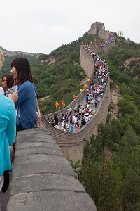 View from the Ba Da Ling segment of the Great Wall, Beijing. It was still quite a way to the peak of the section!