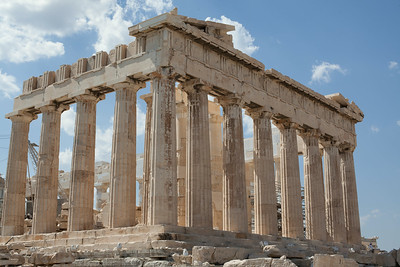 Top of the Acropolis, Athens, Greece