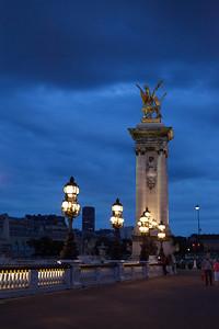 Paris at dusk.