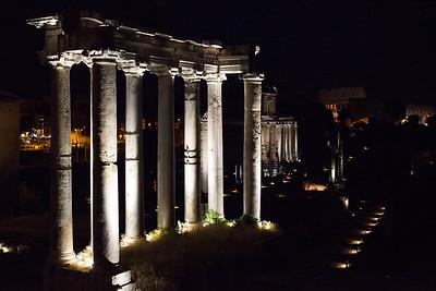 Roman Forum at night