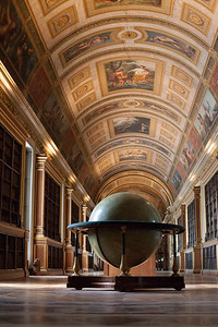 Napoleon's library and globe, Chateau de Fontainebleau, France