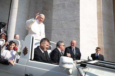 Pope Francis at the Vatican City, before a papal audience