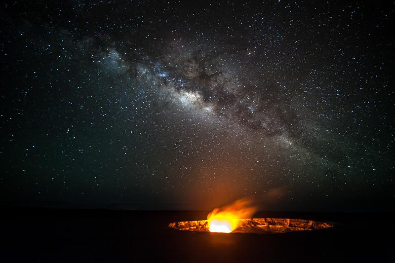 Stars over the volcano