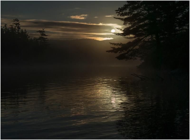 Adirondacks Moose River Recreation Area Squaw Lake Deep Sunrise 3 September 2012