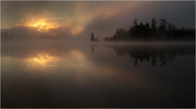 Adirondacks Forked Lake July 2015 Morning Mist Sunrise 17