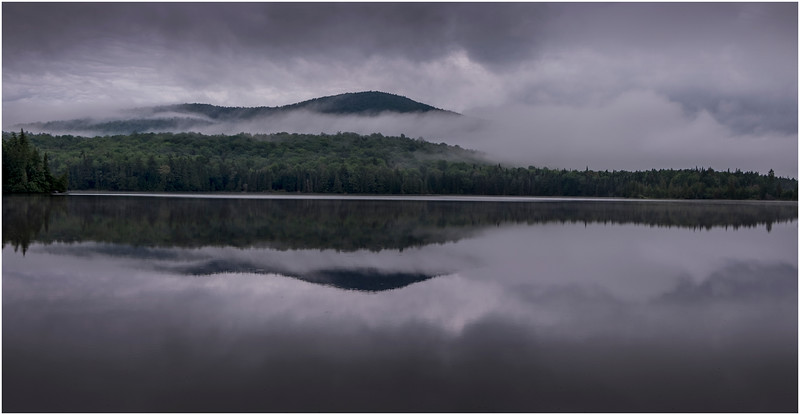 Adirondacks Newcomb Lake Morning Mist 36 July 2017