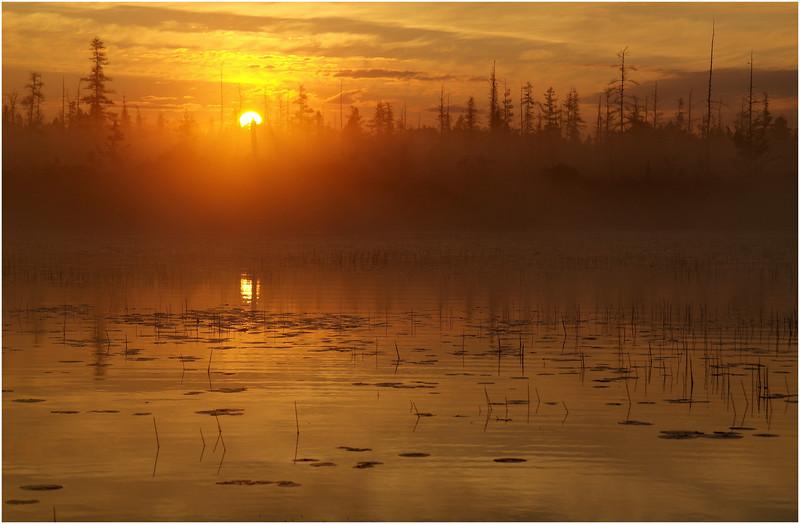 Adirondacks Whitney Wilderness Round Lake Sunrise 4 July 2012