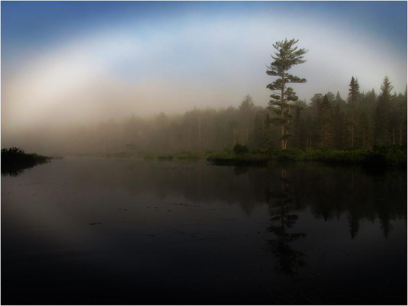 Adirondacks Forked Lake July 2011 MistNorth Bay Inlet and Fog Halo5