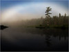Adirondacks Forked Lake July 2011 MistNorth Bay Inlet and Fog Halo5