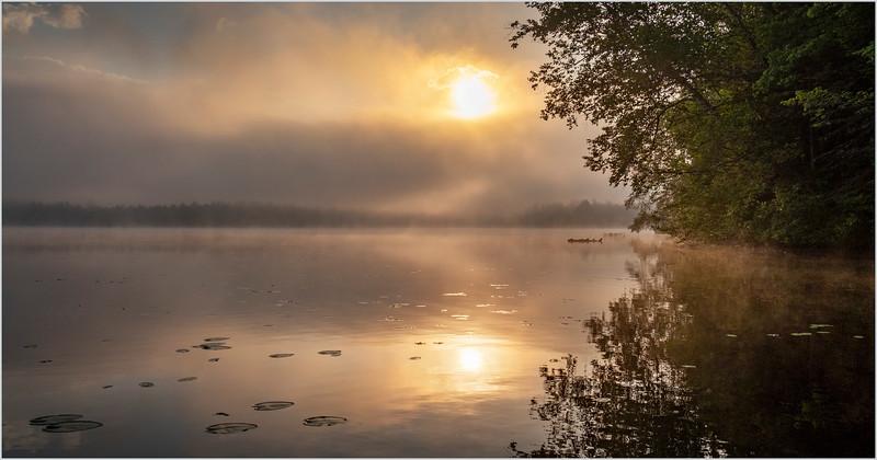 Adirondacks Rollins Pond Morning Mist 30 July 2019