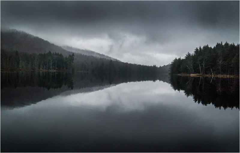 Adirondacks Essex Chain Sixth Lake in Mist October 2013