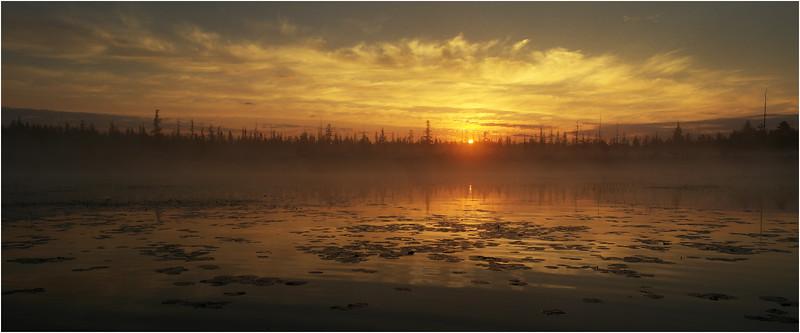 Adirondacks Whitney Wilderness Round Lake Sunrise 6 July 2012