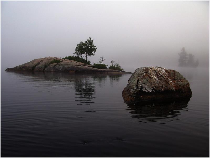 Adirondacks Blue Mountain Lake Morning Islands July 2009