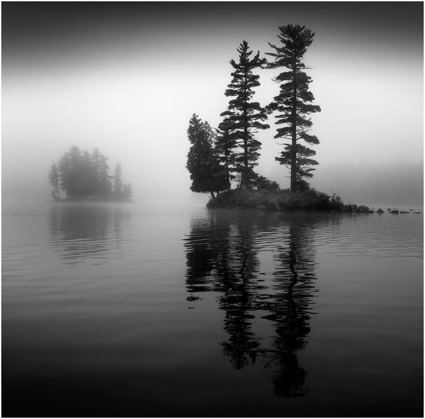 Adirondacks Forked Lake Mist Twin Tree Island 2 June 2009