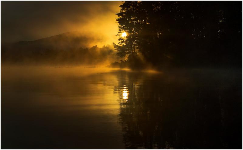 Adirondacks Lake Rondaxe Sunrise 20 July 2016