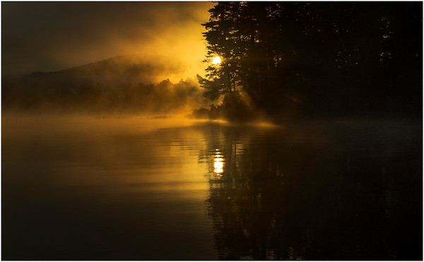 Adirondacks Lake Rondaxe Sunrise 20 July 2016