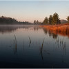 Adirondacks Bog River October 2011 Mist Shore Morning Light 5