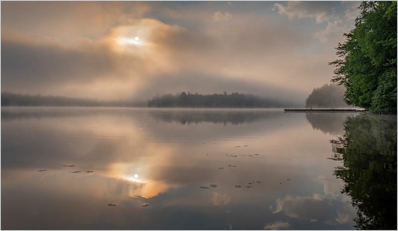 Adirondacks Rollins Pond Morning Mist 32 July 2019