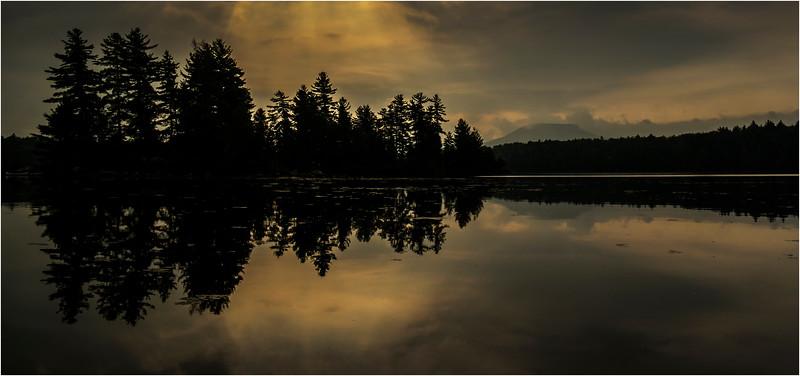 Adirondacks Forked Lake August 2015 Island Area After Sunrise 5