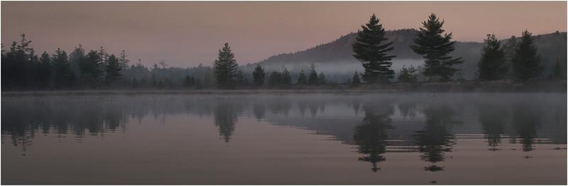Adirondacks Bog River October 2011 Mist Shore 7