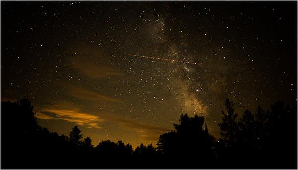Adirondacks Olmstedville Starscape from Hornbeck Pond 4 August 2016