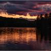 Adirondacks St Regis Long Pond Sunset 3 July 2009