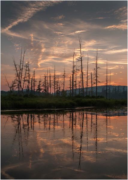 Adirondacks Forked Lake Brandreth Inlet Sunset 2 July 2008