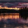 Adirondacks St Regis Long Pond Sunset 2 July 2009