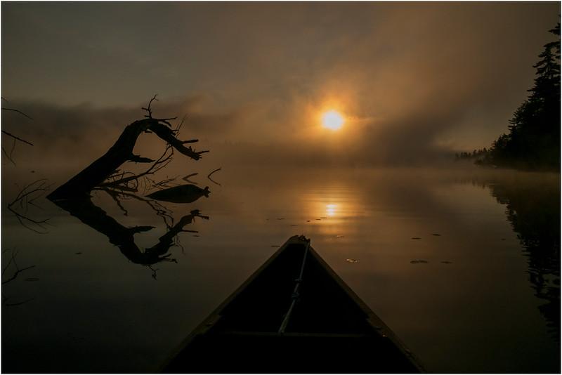 Adirondacks Forked Lake July 2015 Morning Mist Sunrise 15