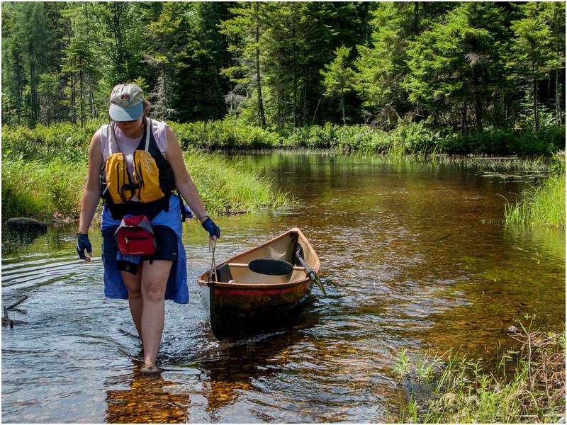 Adirondacks St Regis Kim Pullig Boat Between Slang and Turtle Ponds July 2009