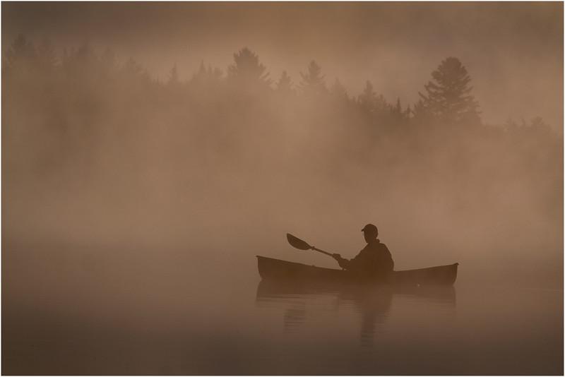 Adirondacks Forked Lake July 2015 Morning Mist After Sunrise Dan Way 12