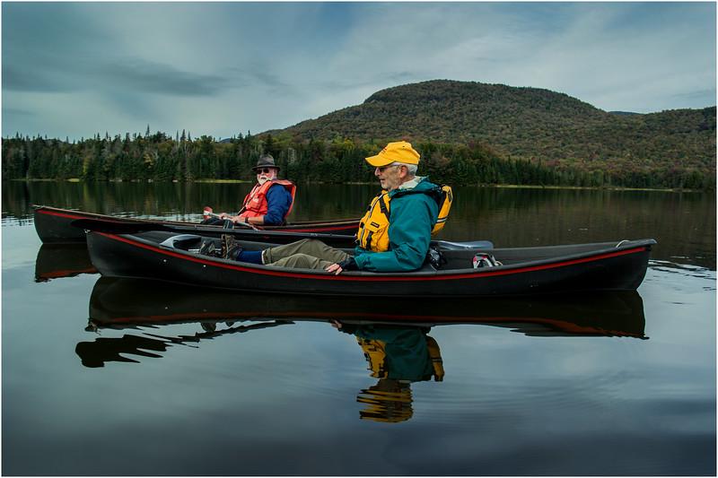 Adirondacks Cedar River Flow September 2015  Mike Prescott and Rick Rosen in Hornbecks 4