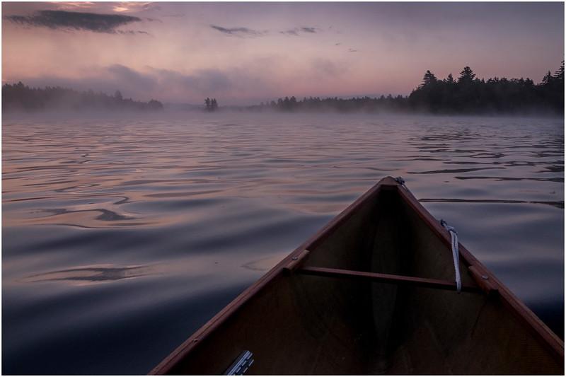 Adirondacks Forked Lake Morning Mist 7 July 2017