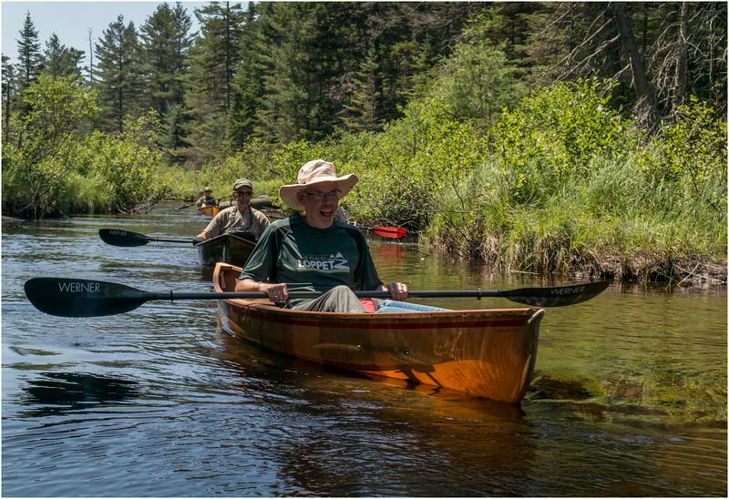 Adirondacks Forked Lake July 2015 Paddling West Inlet Forked Lake, Bill McKibben Dan Way and Tom Curley