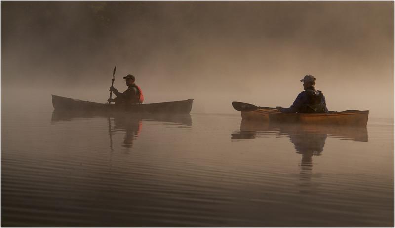 Adirondacks Forked Lake July 2015 Morning Mist Dan Way, Tom Curley