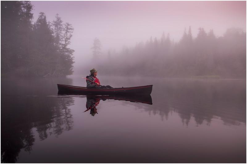 Adirondacks Newcomb Lake Morning Mist 15 July 2017