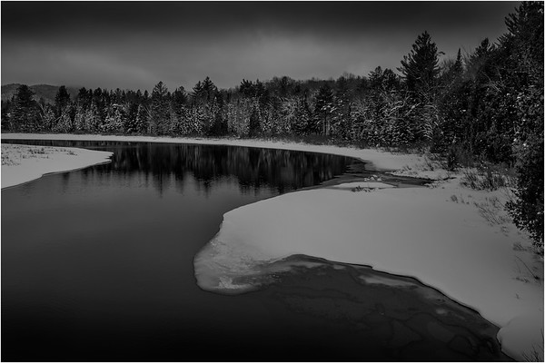 Adirondacks Newcomb Hudson River 13 BW March 2018
