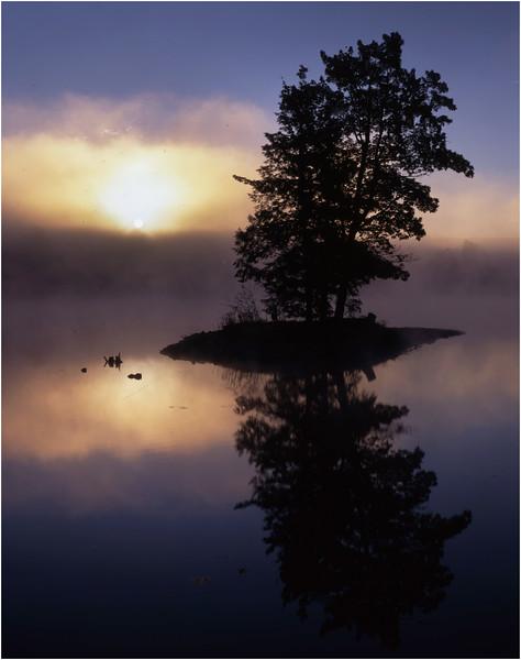 45 New Salem NY Helderberg Lake Sunrise July 1995