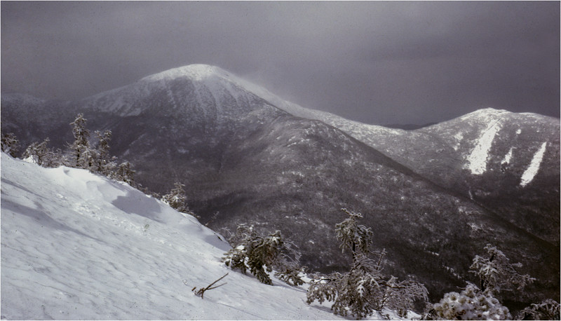 Adirondacks Mt Colden View Algonquin and Wright Peaks March 1979
