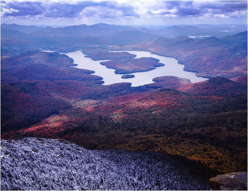 45 Adirondacks Lake Placid from Whiteface 1 October 2001