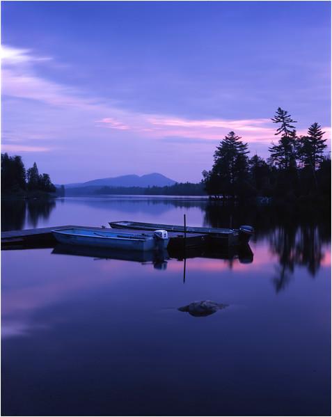 45 Adirondacks Forked Lake Landing Dock Moored Boats Evening 2 August 2000