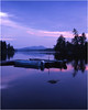 45 Adirondacks Forked Lake Landing Dock Moored Boats Evening 2 August 2000