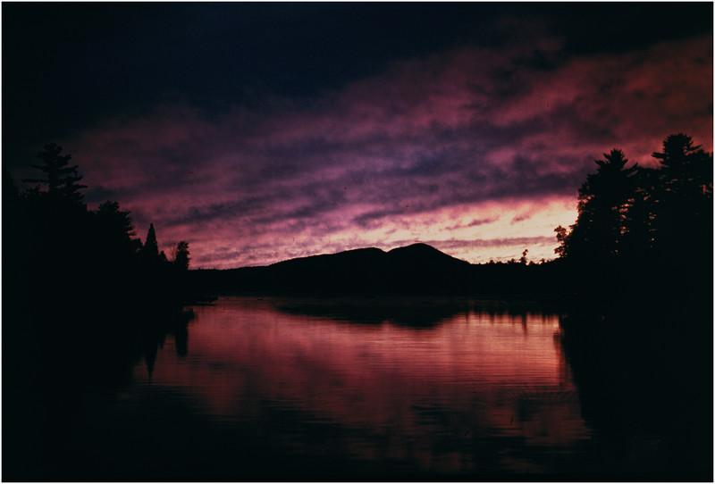 Adirondacks Forked Lake Sunset Landing 1 July 1978