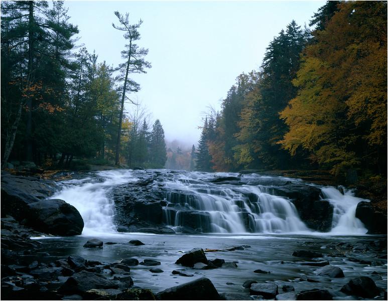 Adirondacks Classics Buttermilk Falls on Raquette River Long Lake 4x5 circa September1996