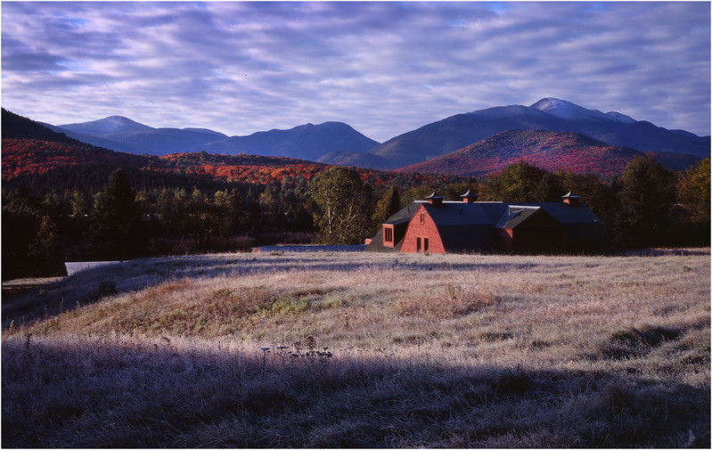 45 Adirondacks North Elba Frost Barn and High Peaks October 2002