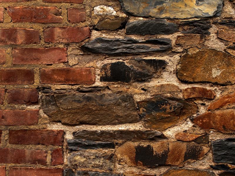Brick and Stone Wall Albany September 2009