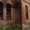 Albany NY Orange Painted Wall, Boarded Windows June 2009